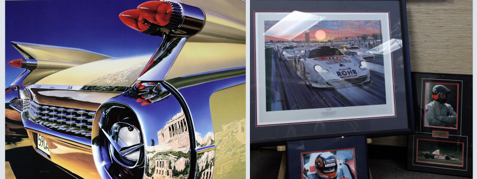 Car photo and frame